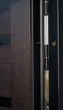 Metal apartment entrance door burglar Stock Image
