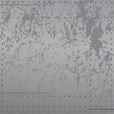 Metal apenado con los remaches, rasguños, tonos frescos suaves de la pendiente, ejemplo del vector del fondo fotos de archivo