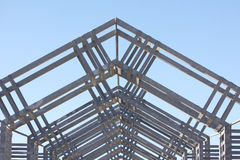 Metal architectual detail. Metal architecture structure showing lots of detail Stock Image
