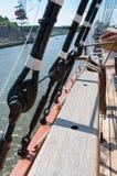 metal arkany na pokładzie i olinowanie Zdjęcie Royalty Free