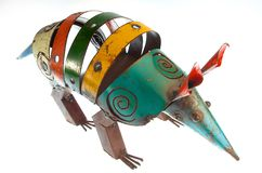 Metal Armadillo Royalty Free Stock Photography