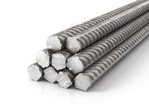 Metal armature. Metal rods. 3d illustration Royalty Free Stock Photos