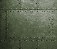 Metal armor military green background with rivets. Armor metal green background with rivets stock image