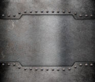 Metal armour plate frame background Stock Photo