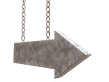 Metal arrow with chains Royalty Free Stock Photo
