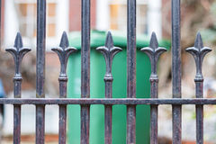 Metal arrow in a fence Royalty Free Stock Photos