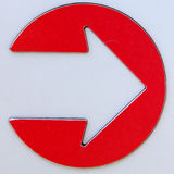 Metal Arrow Sign Royalty Free Stock Images