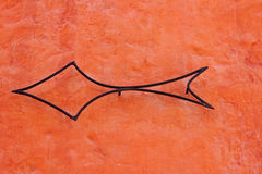 Metal arrow Stock Image