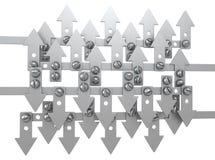 Metal Arrows Array Stock Images