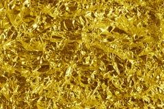 Metal arrugado del oro fotografía de archivo