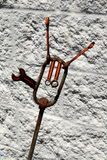 Metal Art Crescent Wrench Sculpture. Metal Art Wrench Crescent Sculpture stock photos