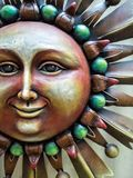 Colorful artwork, solar face Stock Images