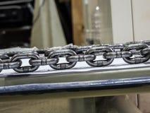 metal as correntes do aço de liga para o uso industrial, muito fortes Fotografia de Stock
