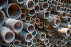 Metal as tubulações Imagem de Stock
