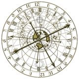 Metal Astronomical Clock Royalty Free Stock Photo