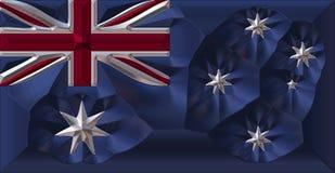 Metal australian flag. Coloured metallic flag stock illustration
