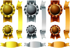 Metal awards set Royalty Free Stock Photos