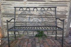 Metal ławka Obrazy Stock