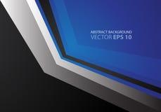 Metal azul abstracto de la flecha y vector negro Imagenes de archivo