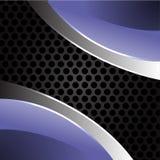 Metal azul en vector gris de la malla del círculo Imagenes de archivo