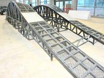 Metal back bridge Royalty Free Stock Photo
