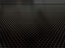 Metal background. Concept of black shiny polygon background Stock Photos