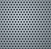 Metal Background. Shiny Light Gray Perforated Metal Plate. Vector Background Stock Image