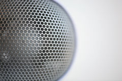 Metal background. A cover of some home appliances Stock Photos