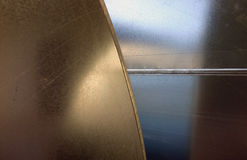 Metal Background 2. Metal background divided by curves Royalty Free Stock Photos