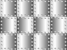 Metal background. A metal background with rivets Royalty Free Stock Photos