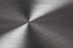 Metal background. Perspective with light reflection Royalty Free Stock Photos