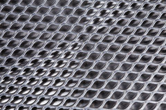 Metal background. Perspective grid with light reflection Royalty Free Stock Photo