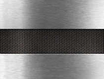 Metal background. Two plates and grate between them Stock Photo