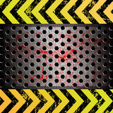 Metal background as a warning Royalty Free Stock Photos