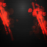 Metal background with blood splatters Stock Photos