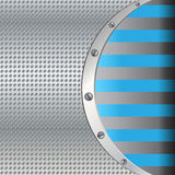 Metal background with blue lines Stock Photo