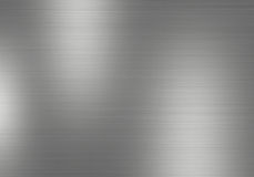 Metal background of brushed steel plate with reflections Royalty Free Stock Photos