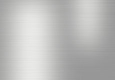 Metal background of brushed steel plate with reflections Stock Images