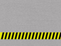 Metal background. With caution tape stock illustration