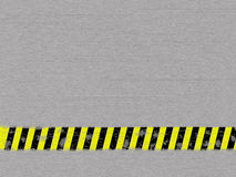 Metal background. With caution tape Stock Photos