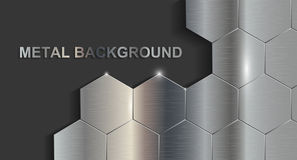 Metal background. Chrome metal background in vector Stock Image