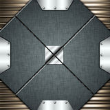 Metal background. Exclusive mixed metal plate background Stock Photo