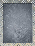 Metal background or frame. Of brushed steel plate Stock Photography