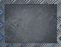 Metal background or frame. Of brushed steel plate Royalty Free Stock Photography