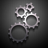 Metal background with gears. vector eps10 Royalty Free Stock Photos