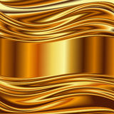 Metal background, gold brushed metallic. Texture plate. Vector 2 Royalty Free Illustration