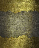 Metal background with gold cracked frames. Element for design. Template for design. copy space for ad brochure or announcement inv Stock Image