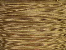 Metal Background - Golden wire cable Stock Photos Stock Photo