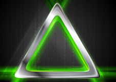 Metal background and green glowing light Stock Photography