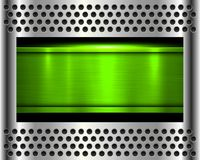 Metal background green Stock Photo